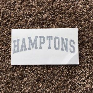 RARE large brandy melville 'hamptons' sticker